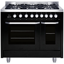 Buy John Lewis JLRCBK115 Dual Fuel Range Cooker, Black Online at johnlewis.com