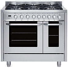 Buy John Lewis JLRCSS114 Dual Fuel Range Cooker, Stainless Steel Online at johnlewis.com