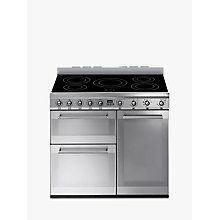 Buy Smeg SY93I Symphony Induction Range Cooker, Stainless Steel Online at johnlewis.com