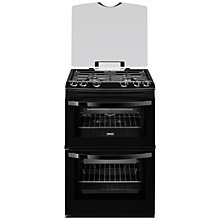 Buy Zanussi ZCG63010BA Gas Cooker, Black Online at johnlewis.com