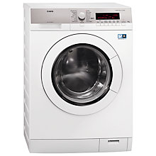 Buy AEG L87490FL Freestanding Washing Machine, 9kg Load, A+++ Energy Rating, 1400rpm Spin, White Online at johnlewis.com