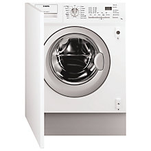 Buy AEG L61271BI BI Integrated Washing Machine, 7kg Load, A++ Energy Rating, 1200rpm Spin, White Online at johnlewis.com