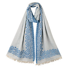 Buy East Jacquard Scarf, Blue Online at johnlewis.com