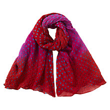 Buy East Silk Georgette Bandhini Scarf, Peony Online at johnlewis.com