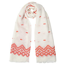 Buy East Woven Jacquard Scarf, Ginger Online at johnlewis.com