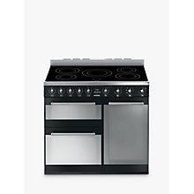 Buy Smeg SY93IBL Symphony Induction Range Cooker, Black Online at johnlewis.com