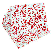 Buy John Lewis Red Star Cocktail Paper Napkins, Pack of 20 Online at johnlewis.com