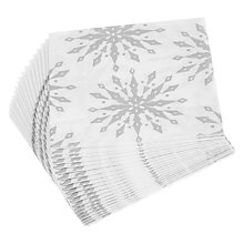 Buy John Lewis Silver Snowflake Paper Napkins, Pack of 20 Online at johnlewis.com
