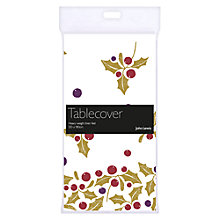 Buy John Lewis Silver Holly Table Cover, Multi Online at johnlewis.com