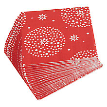Buy John Lewis Red Star Paper Napkins, Pack of 20 Online at johnlewis.com