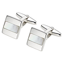 Buy John Lewis Sterling Silver Mother of Pearl Rectangle Cufflinks Online at johnlewis.com
