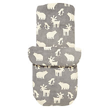 Buy John Lewis Winter Animal Baby Footmuff, Grey Online at johnlewis.com