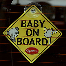 Buy Clipasafe Baby On Board Sign Online at johnlewis.com