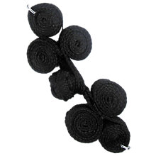 Buy Lace Frog Buttons, Black Online at johnlewis.com