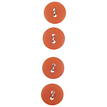 Buy Small Matt Buttons, 12mm, Zesty Orange Online at johnlewis.com