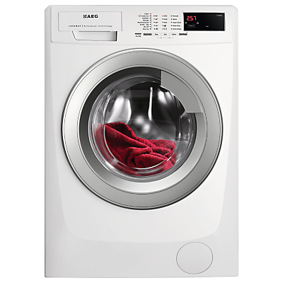 AEG L68270VF Freestanding Washing Machine, 7kg Load, A+++ Energy Rating, 1200rpm Spin, White