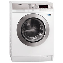 Buy AEG L87696WD Washer Dryer, 9kg Wash/6kg Dry Load, A Energy Rating, 1600rpm Spin, White Online at johnlewis.com