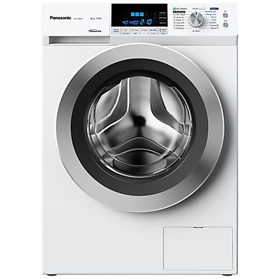 Panasonic NA-148XS1W Freestanding Washing Machine, 8kg Load, A+++ Energy Rating, 1400 rpm Spin, White