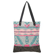 Buy East Geo Print Canvas Shopper Bag, Multi Online at johnlewis.com