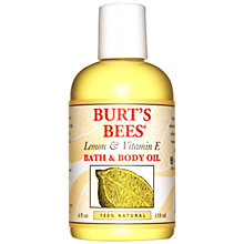 Buy Burt's Bees Lemon and Vitamin E Bath and Body Oil, 118ml Online at johnlewis.com
