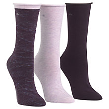 Buy Calvin Klein Roll Top Crew Ankle Socks, Pack of 3 Online at johnlewis.com