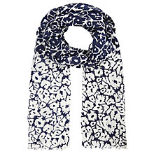 Buy John Lewis Reversible Floral Scarf, Navy/Cream Online at johnlewis.com