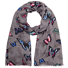 Buy John Lewis Shadow Butterfly Scarf, Grey Online at johnlewis.com