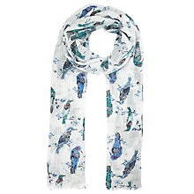 Buy John Lewis Woodpecker Branch Scarf, Cream/Multi Online at johnlewis.com
