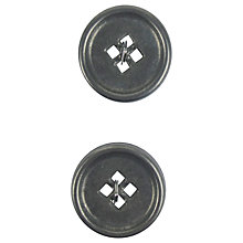 Buy Large Round Metal Button, 19mm, Vintage Silver Online at johnlewis.com