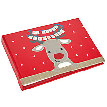 Buy John Lewis Christmas Reindeer Photo Album, Red Online at johnlewis.com