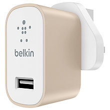Buy Belkin MIXIT ↑ Metallic USB Home Charger Online at johnlewis.com