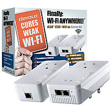 Buy Devolo dLAN 1200+ WiFi ac Powerline Starter Kit Online at johnlewis.com