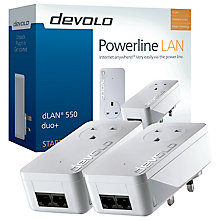 Buy Devolo dLAN 550 duo+ Powerline Starter Kit Online at johnlewis.com