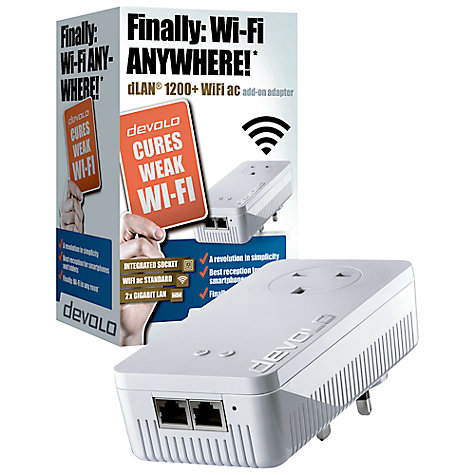 buy devolo dlan 1200 wifi ac powerline single adapter. Black Bedroom Furniture Sets. Home Design Ideas