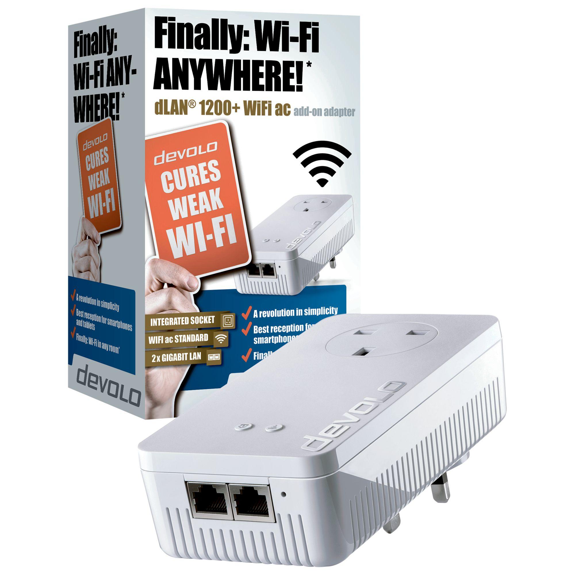 Devolo Devolo dLAN 1200+ WiFi ac Powerline Single Adapter
