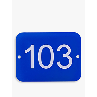The House Nameplate Company Personalised Acrylic Rectangular House Number