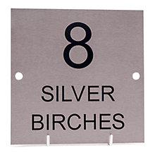 Buy The House Nameplate Company Stainless Steel Square House Sign, Large Online at johnlewis.com