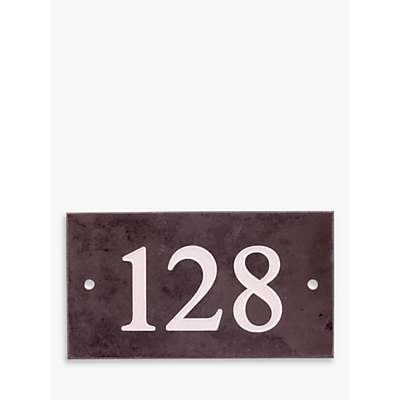 The House Nameplate Company Personalised Slate House Number, 3 Digit