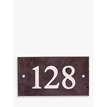 Buy The House Nameplate Company Personalised Slate House Number, 3 Digit, W18 x H10cm Online at johnlewis.com