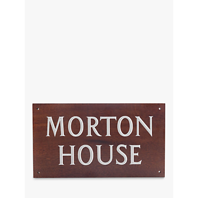The House Nameplate Company Personalised Iroko Wood House Sign, 2 Line