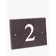 Buy The House Nameplate Company Personalised Slate House Number, 1 Digit Online at johnlewis.com