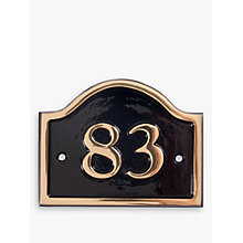 Buy The House Nameplate Company Personalised Brass Bridge House Number Online at johnlewis.com