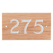 Buy The House Nameplate Company Personalised Oak Wood House Number, 3 Digit Online at johnlewis.com