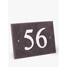 Buy The House Nameplate Company Personalised Slate House Number, 2 Digit, W14 x H10cm Online at johnlewis.com