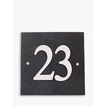 Buy The House Nameplate Company Personalised Slate House Number, W15 x H15cm Online at johnlewis.com