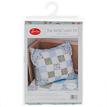 Buy Groves Sew Easy Quilt Cushion Sewing Kit, Blue Online at johnlewis.com