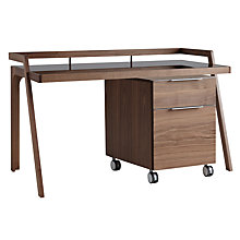 Buy John Lewis Gazelle Desk & Filing Cabinet, Walnut Online at johnlewis.com