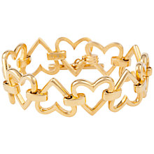 Buy Susan Caplan Vintage 1970s Swarovski Gold Plated Heart Bracelet, Gold Online at johnlewis.com