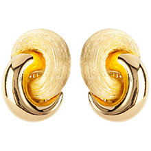 Buy Susan Caplan Vintage 1980s Christian Dior Gold Plated Love Knot Clip-On Earrings, Gold Online at johnlewis.com