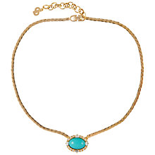 Buy Susan Caplan Vintage 1970s Christian Dior Gold Plated Necklace, Turquoise Online at johnlewis.com